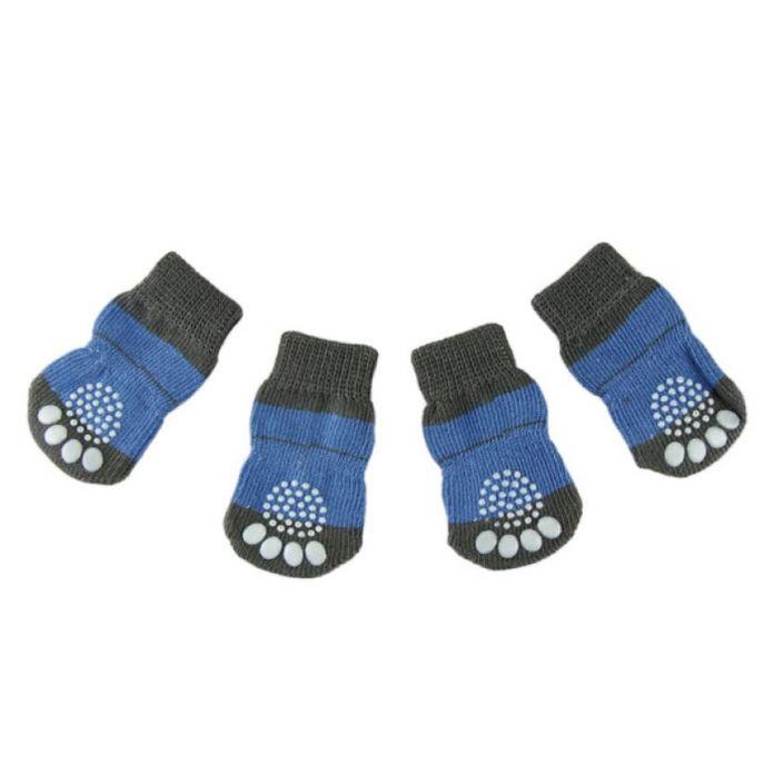 Супер Дело 2016 Мода 4 Шт. Милый Щенок Собаки унисекс Pet Вязаные носки Антипробуксовочная Skid Bottom носки для собак pet носки meias