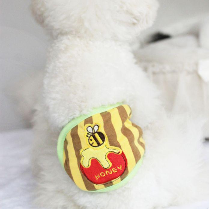 Милые моющиеся Мужской Собака Пеленки Нижнее Белье Хлопок Шорты Санитарно собака гигиена физиологические Брюки Трусики собака трусы брюки