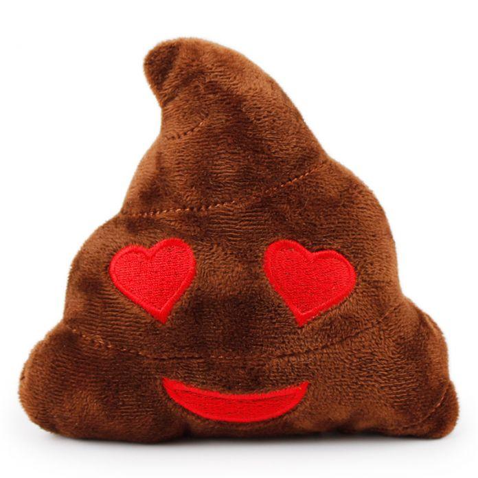 1 шт. Смешные Emoji Подушка Pet Собаки Игрушки Мягкие Плюшевые Щенок Звук Игрушки 14*16*6 см