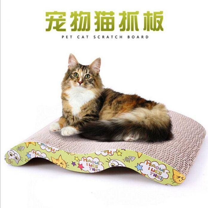 Котенок кошка Гофрированного Нуля Совета Pad Скребок Кровать Мат Когти Уход Интерактивная Игрушка Для Домашних Животных Кошка Обучения Кот Игрушка