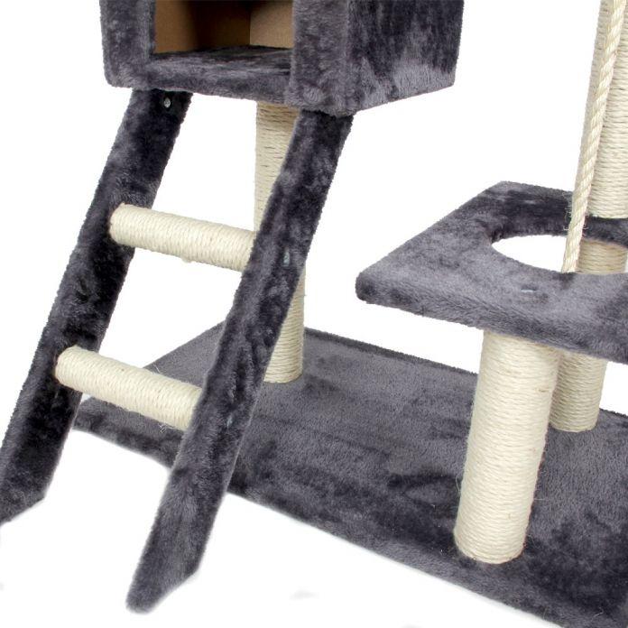 Внутренние Поставки Кошка Прыгает Игрушки с Лестницы Царапин Дерево Восхождение Дерево Кошка Лазалки Кошка Мебель Когтеточка