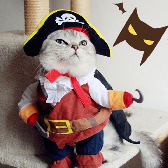 Забавный Пират Кошка Костюм Одежда Для Собак для Кошек Наряд костюм Собаки Кошки Одежда Corsair переодевание Одежда для Чихуахуа 40