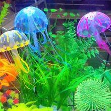 Новый Танк Орнамент Плавать Светящийся Эффект Медузы Jar Украшения Для Аквариумных Рыб Бесплатная Доставка
