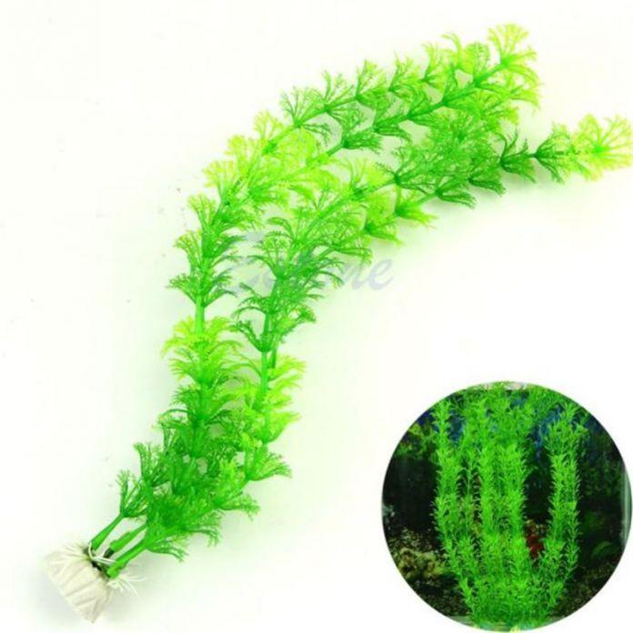 Приятный дизайн 32 см Пластиковые украшения аквариумных растений fish tank искусственного искусственный аквариум трава воды рыба сорняков для украшения