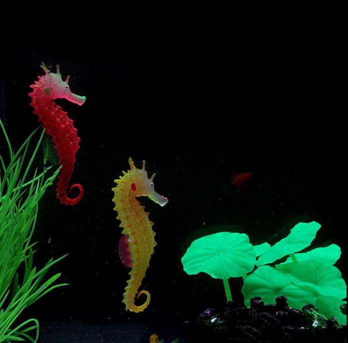 Лучшее Качество Морской Конек Аквариум Украшение Светящиеся Fish Tank Декор Sea Horse Гиппокампа