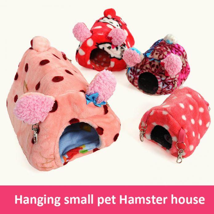 Милый Зверек любимая Кролик крыса белка Морская Свинка Хомяк дом кровать зима теплая Дома висит клетка Гнездо Хомяка аксессуар