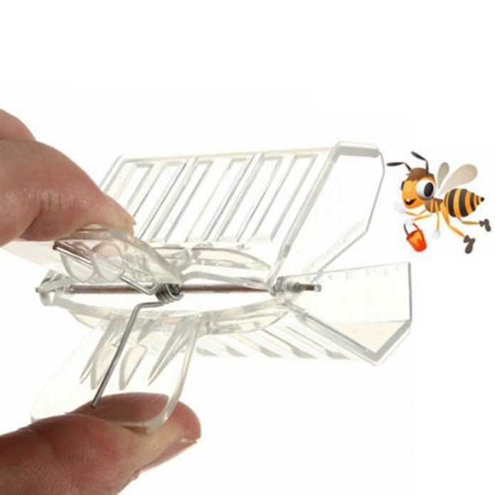 Пластиковые Королева Клетке Клип Пчела Catcher Пчеловод Пчеловодство Инструмент Оборудование XP0022