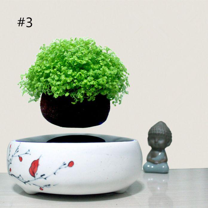 2016 япония высокотехнологичной продукции магнитной левитации воздуха бонсай (ни одно растение) керамический цветочный горшок культуры 101 бесплатно доставка