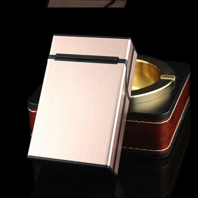 Тонкий Моды Трубы Творческой Личности Сигарету Случае Тонкий Металлический Портсигар Пачку сигарет Алюминиевая Коробка Подарка