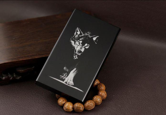 Черный Feb000 Женщина портсигар тонкий 100 мм коробки сигарету высокое качество ультра тонкий алюминиевый портсигар