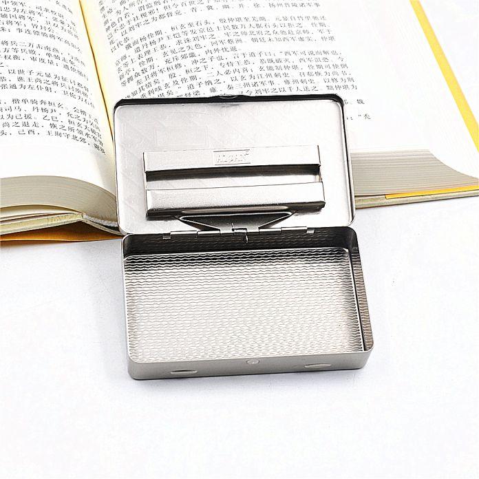 1 Х Металл Табак Box Карманный Размер [95 мм * 55] Портсигар С 70 ММ Держатель Для Бумаги внутри В Серебро/Медь Цвет