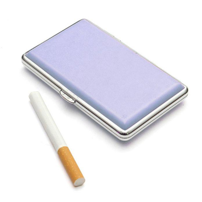 1 шт. Портсигар Держатель Карманный box 7 Сплошные Цвета Кожа Сигареты Табак Дело Box Контейнер Для Переноски для 14 Сигарет