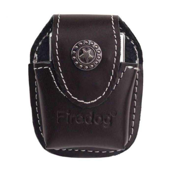 Firedog Fliptop Натуральной Кожи Легче Чехол Держатель с Металлическим Зажимом Пояса для ZIPPO Керосин Зажигалка
