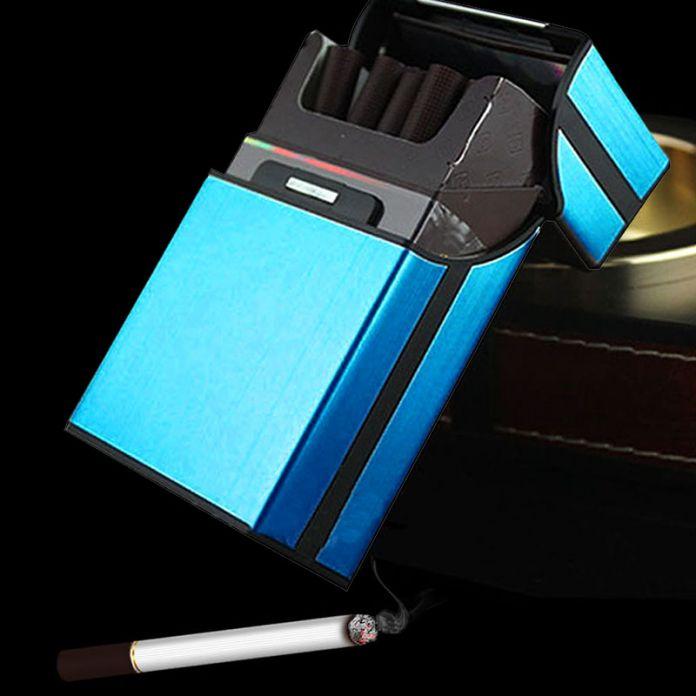 Горячая 1 50pcsaluminum Металлическая Сигара Сигарета Жесткий Box Дело Держатель Для Хранения Пакет 20 шт. Подарок XN187