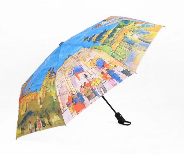 Создать Зонты Европейских Странах Картина Маслом Зонт три Складной Классический Анти-Уф Вс/Дождь Прочный Автоматический Зонт