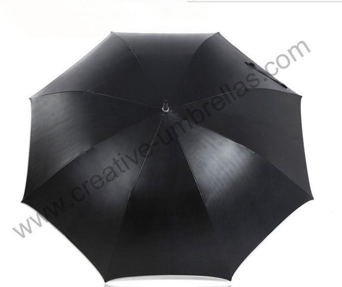 Самооборона unbreakable гольф зонтик, углерод стекловолокна вал и ребра, 210 т тайвань Formosa эпонж черное покрытие 5 раз, анти-уф