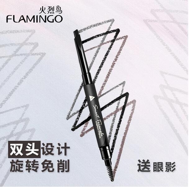 Бесплатная Доставка Новый Фламинго Природных Многофункциональный Обоюдоострый Долгое легко Носить Бровей Enhancer Карандаш B1031