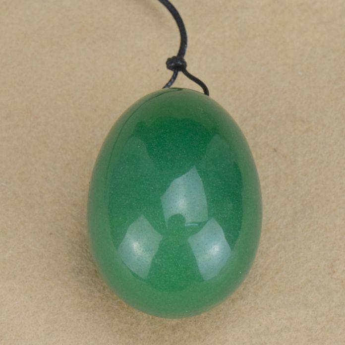 Drilled Natural Green Авантюрин Нефрит Яйцо для Кегеля Упражнения, 40*25 ММ Любовь Яйцо для Взрослых Кегеля яйца Йони святого валентина Подарок