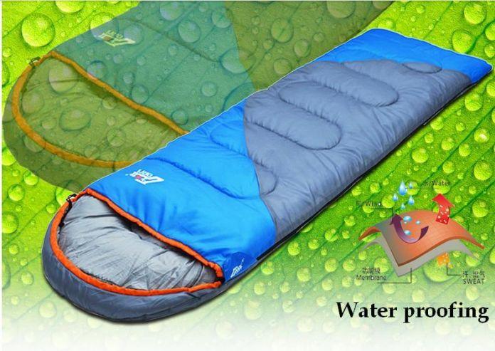 Новый водонепроницаемый кемпинг портативный аварийного хлопок Сплайсинга сна bagspring открытый путешествие стиль конверт водонепроницаемый спальный мешок