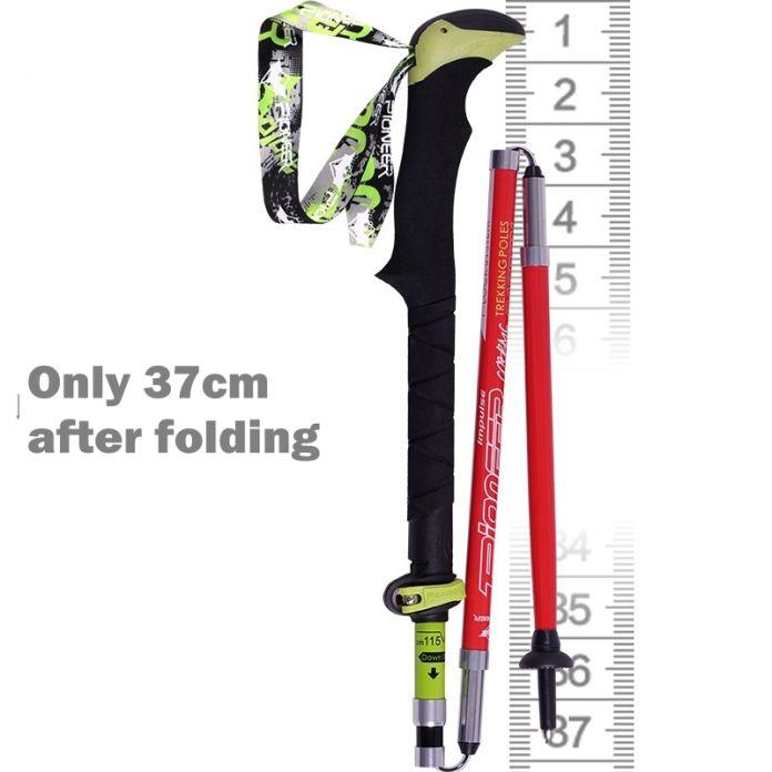 Ультра-легкие складной для нордической ходьбы углеродного волокна походы походы палку альпенштоком углерода трости для туризма палки для ходьбы скандинавская ходьба палки палки для скандинавская ходьба трость