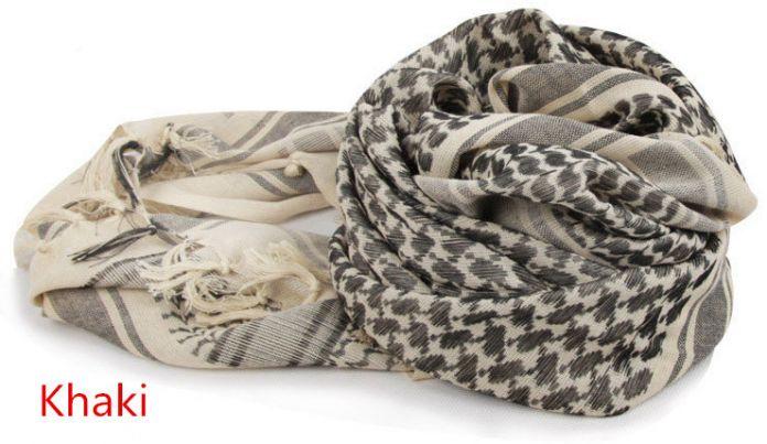 Военный Shemagh шарф тактико-специальное пустынные арабская куфия шарф арабский 100% хлопок тонкие шарфы