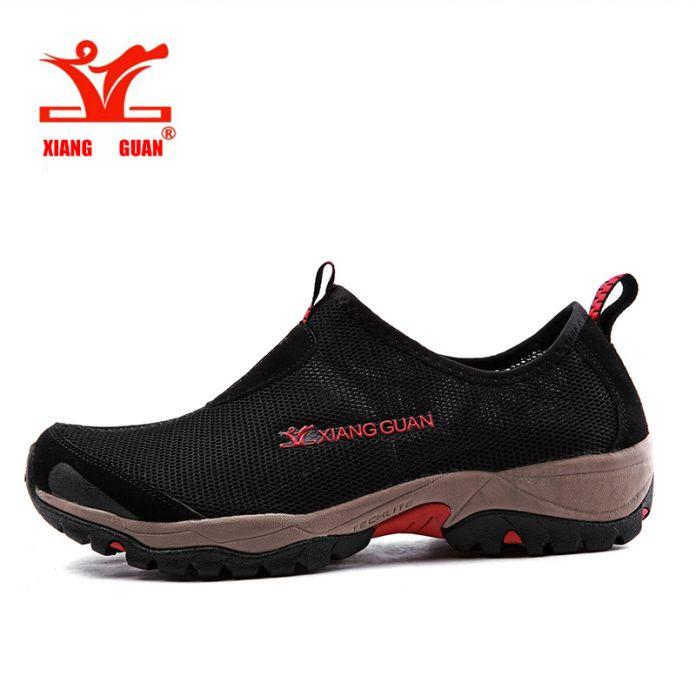 Xiangguan Мужская Aqua Обувь Сетка кроссовки Мокасины Slip On Super Cool Спорт Воды Обувь Для Ходьбы Удобные Дышащий zapatos