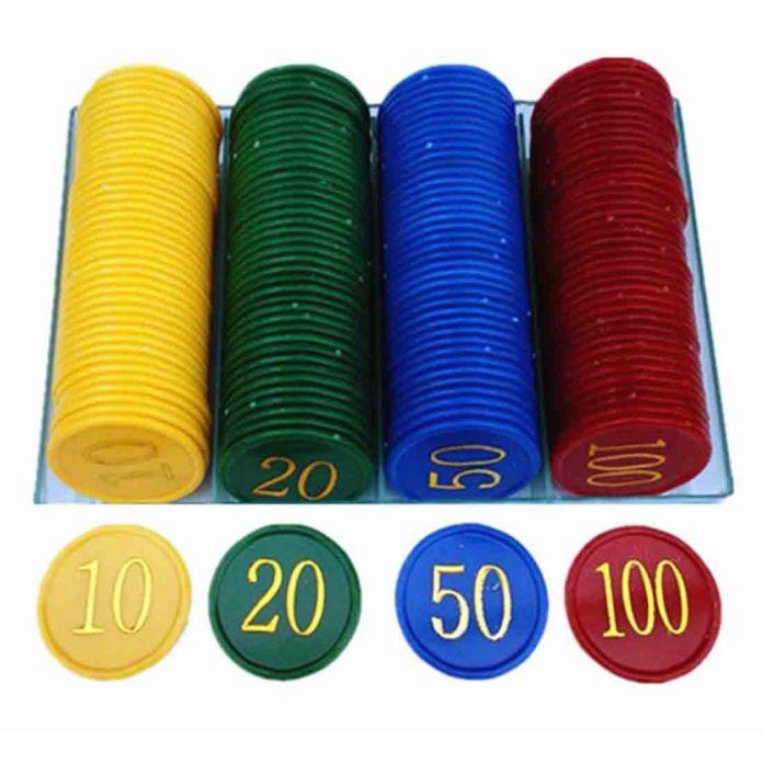 160 Шт. Пластиковые Покер Чип с 4 Золотой Большое Количество Печати для Игровых Жетонов Пластиковых Монет-Желтый + Зеленый + красный + Синий