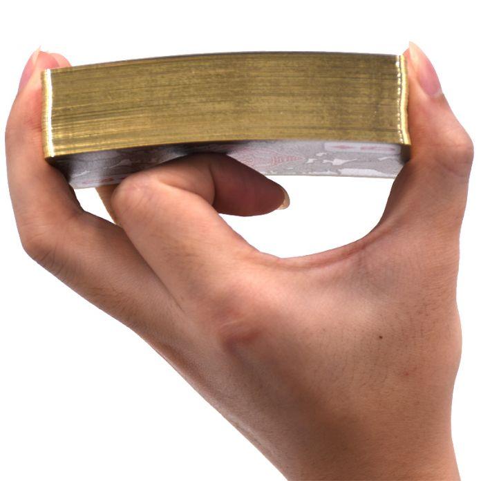 Игральных Карт, водонепроницаемый Прозрачный ПВХ Покер Пластиковые Игральные Карты Золотым Обрезом Азартные Игры В Покер Карты Дракон Новизна Подарок
