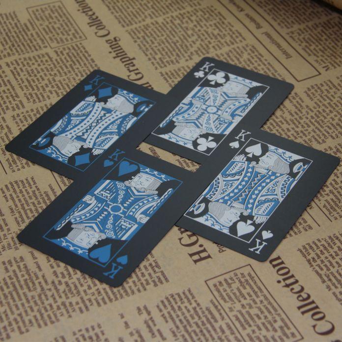Бесплатная Доставка водонепроницаемый пластиковый пвх игральные карты набор чистый черный покер карты устанавливает классические настольные игры карты