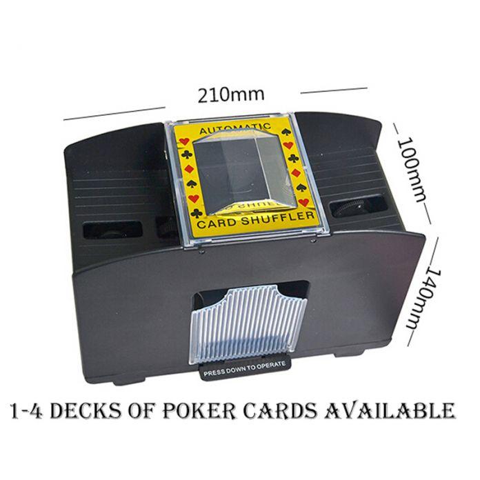 Новый Год-4 Палубы МАКС Карты Пройдоха-Передовые Казино Робот-Перетасовка Игральные карты Покер Shuffler Автомат