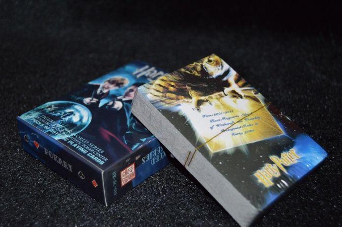 Бесплатная доставка 54 шт./компл. бумаги коллективной гарри поттер покер фильм игральные карты новинка представляет для детей