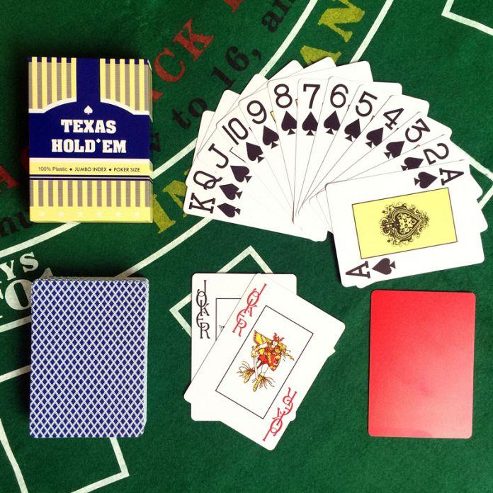 Оптовая Новый Баккара Техасский Холдем Пластиковые Игральные Карты Водонепроницаемый Глазурь Покер Карты Настольные Игры 2.48*3.46 inch