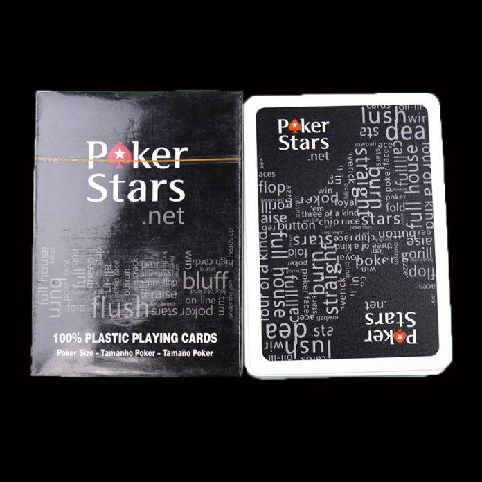 Пластиковые Игральные Карты Игры Техасский холдем Покер Карты Водонепроницаемый И Скучный Польский Покер Звезда Zakka Настольные Игры Черный Цвет & красный