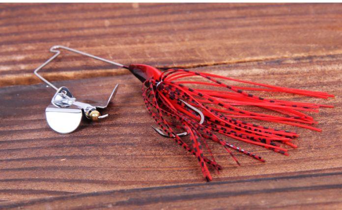 Trulinoya Приманка с Юбками Buzzbait Спинербейт с Отражать Свет Металла Blade12g Приманки для Рыбалки Бас Vivic Плавательный Приманки P43