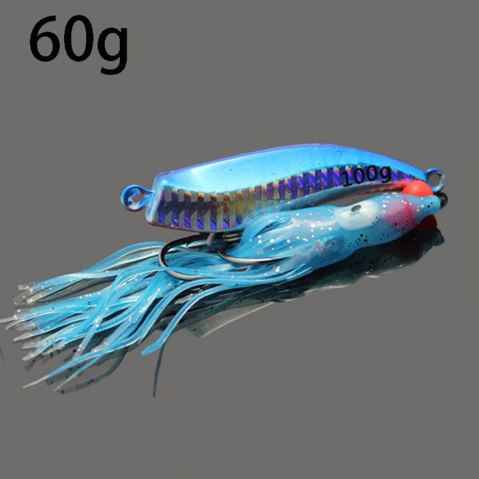 2016 новый джиг приманки 60 г джиги лодке глубоководная привести осьминог squid джиг приманки привести голову джиги рыбалка аксессуары-падение доставка
