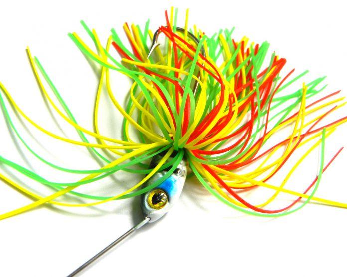 HENGJIA 17.4 Г Spinner рыболовные Снасти Металл Рыболовную Приманку Спинербейт Воблер рыболовный крючок резиновые джиг-приманки Силиконовые Юбка Блесток