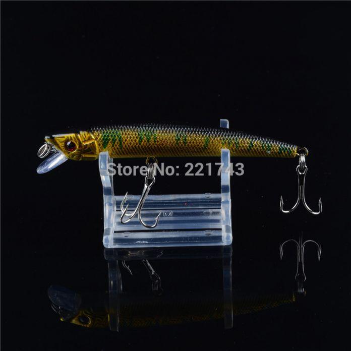 Новый Продажа 2016 Длинные Гольян Рыболовные Приманки 9.5 СМ/8 Г Жесткий Рыбалка Bait 3D Глаза Крючки Рыбалки снасти
