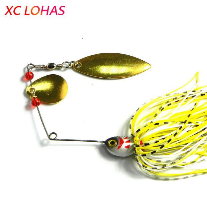 1 шт, 20.5 г, разноцветный металлический спиннер - баззбейт ( buzzbait ), светоотражающие золотая рыболовная ложка, шумовая приманка с 3D глазами, хит продаж джиг, рыболовная приманка, SB004