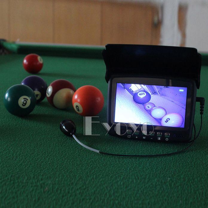 """Eyoyo оригинальная 15м подводная камера для рыбалки камера  рыбоискатель подводная рыбалка 4.3 """"монитор 1000TVL инфракрасные светодиоды солнцезащитный козырек"""