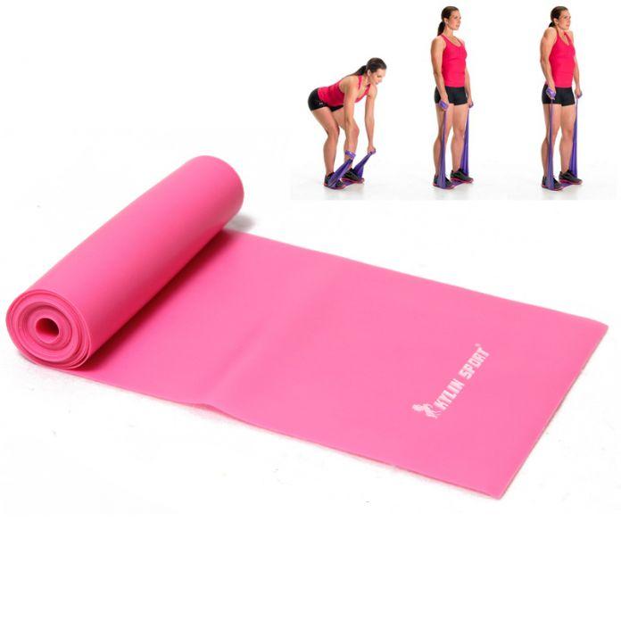 2 м йога резина пилатес простирание сопротивление упражнения фитнес лента тренировка черный для и kylin спорт