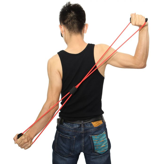 Фитнес-Йога Трубы 8 Тип Эспандер Спортивного Мышцы Тяговая Тренажер Диапазоны Сопротивления Для Здания Тела