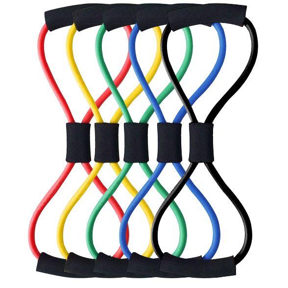 Резиновые Разработчик Латекс Эспандер Натяжного Устройства Yoga Tube Тела Упругие Весна Тренажер Диапазоны Сопротивления