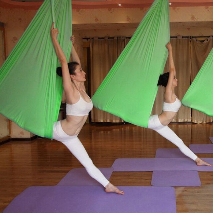 Высокая Прочность Гамак Yoga Качели Фитнес Воздушные Yoga Стропы антигравитации Гамак Yoga Belt Swing Декомпрессии Слинг Оборудования