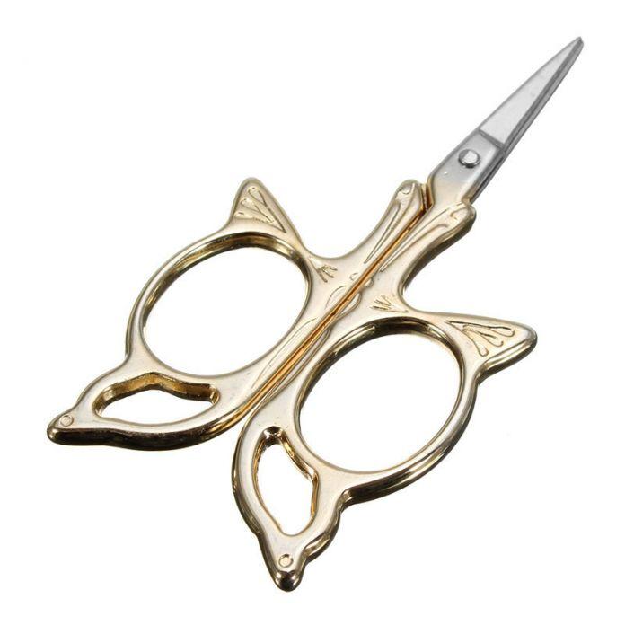 3.5 дюймов античный дизайн DIY вышивка ножницы старинные позолоченная ножницы швейная бабочки ножницы главная работа ручной инструмент
