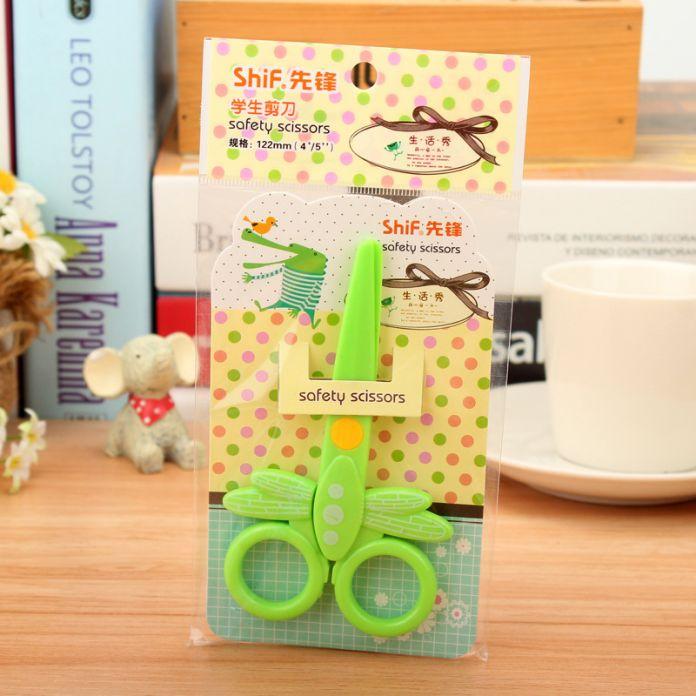 DIY Смазливая Kawaii Творческий Стрекоза Пластиковые Ножницы Для Бумаги Скрапбукинга Новинка Пункт Корейский Канцелярские Бесплатная Доставка 1203