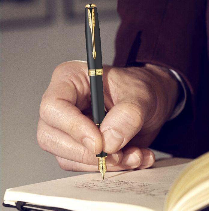 Паркер матирование черный бары золото клип авторучка паркер и . м . золото клип авторучка серебро ручка