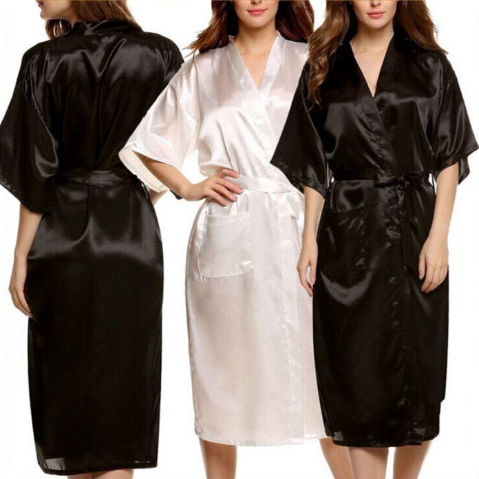 Мужской Женщин Плюс Размер Длинные Атласные Банный Халат Сексуальный Пеньюар Homme Кимоно Халат Лето Шелковые Халаты Халат для Мужчин пижамы