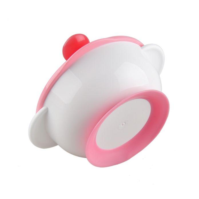 Детские кубок посуда набор посуды розовый зеленый bpa бесплатно дети кормление всасывания чаша мягкая ложка посуда продукты по уходу за
