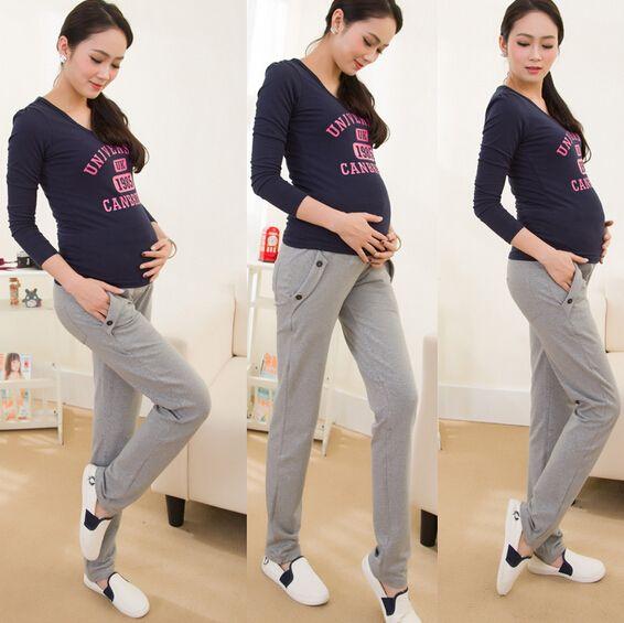 Хлопок Повседневная Материнства Брюки Для Беременных Одежда для Беременных Брюки Платье Беременных Брюки Для Беременных Одежда