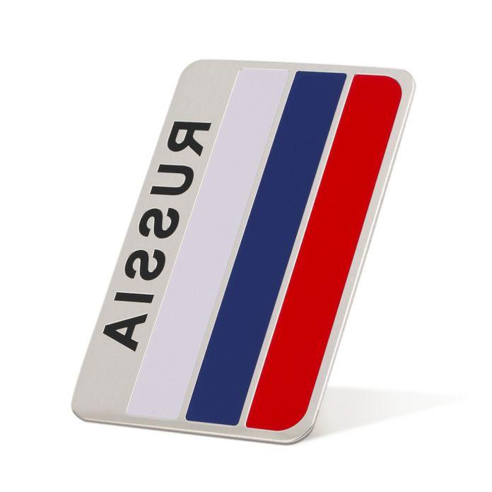 Высокое качество 3D Алюминия Флаг России стикера автомобиля аксессуары наклейки Для ford focus chevrolet для skoda для honda